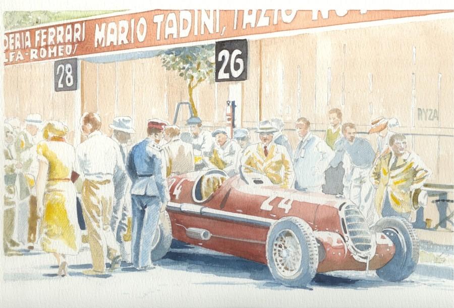 Alfa Romeo Monoposto 8c (1) Art Print by Giovanni Casander