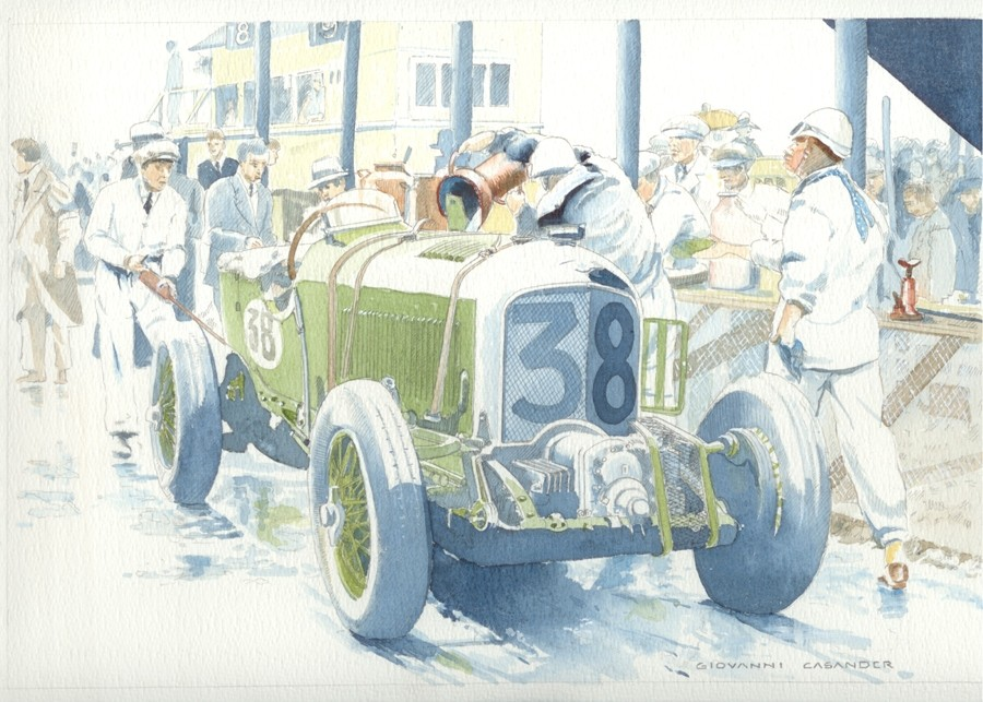 Bentley Blower Art Print by Giovanni Casander