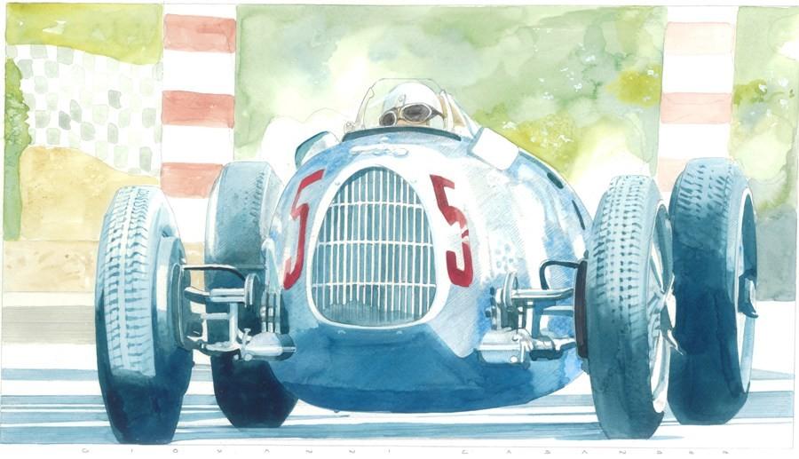 Auto Union Art Print by Giovanni Casander