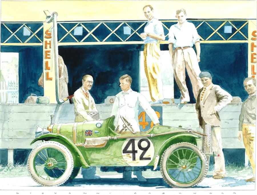 Austin Seven Art Print by Giovanni Casander