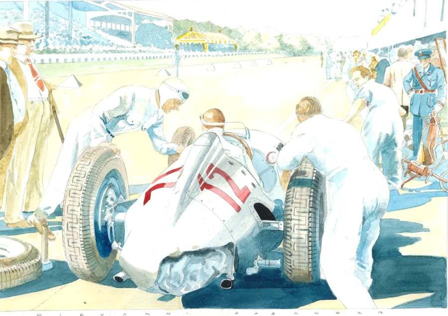 Auto Union Type C Art Print by Giovanni Casander