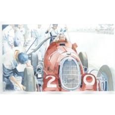 Alfa Romeo Monoposto 8c (2) Art Print by Giovanni Casander