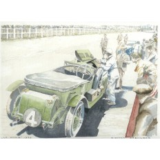 Tim Birkin and His 4.5 Litre Bentley Art Print by Giovanni Casander