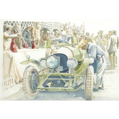 Bentley 4.5 Litre at Le Mans 1928 Art Print by Giovanni Casander