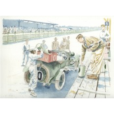 The Bentley Boys Win Le Mans Art Print by Giovanni Casander