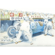 Bugatti at Grand Prix de France 1931 Art Print by Giovanni Casander
