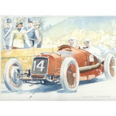 Maserati 26 M Targa Florio 1930 Art Print by Giovanni Casander