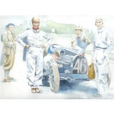 Bugatti Type 35B Art Print by Giovanni Casander