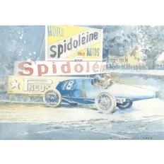 Bugatti Type 30 Art Print by Giovanni Casander