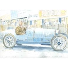 Bugatti Type 35 Art Print by Giovanni Casander