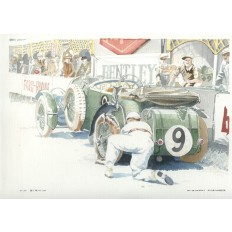 Tim Birkin and His Blower Bentley 4.5 Litre Art Print by Giovanni Casander