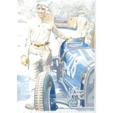 Tazio Nuvolari (2) Art Print by Giovanni Casander