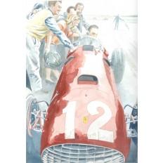 Ferrari 375 Art Print by Giovanni Casander