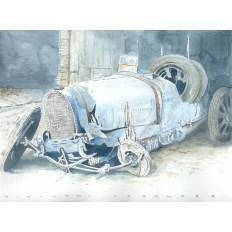 Rare Bugatti Found Art Print by Giovanni Casander