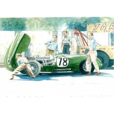 Jaguar C Type (1) Art Print by Giovanni Casander