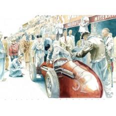 Maserati 250 F (1) Art Print by Giovanni Casander