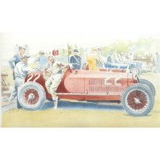 Hellé Nice and Her Alfa Monza Art Print by Giovanni Casander