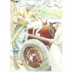Tazio Nuvolari (1) Art Print by Giovanni Casander