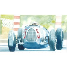 Auto Union Art Print by Giovanni Casander