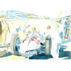 Auto Union Type C Art Print by Giovanni Casander