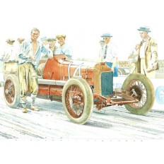 Miller Race Car Art Print by Giovanni Casander