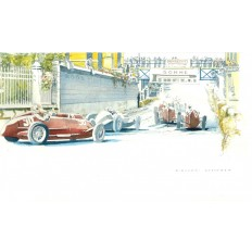 Mercedes W 25 Art Print by Giovanni Casander