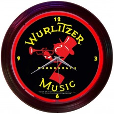 Wurlitzer Neon Clock