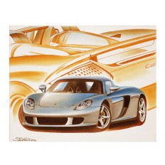 Carrera GT Art Print by St̩éphane Dufour