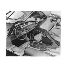 Mercedes 300 SL Art Print by St̩éphane Dufour