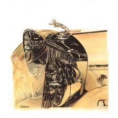 Jaguar Mk IV Art Print by St̩éphane Dufour