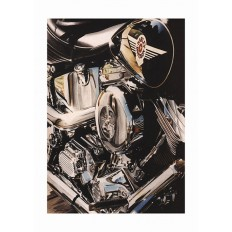 Harley Fat Boy Art Print by St̩éphane Dufour