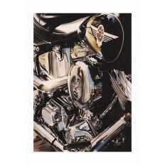 Harley Fat Boy Art Print by St̩éphane Dufour