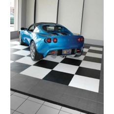 Park Smart Style Tile Interlocking Floor Tiles - Tire Tread Pattern