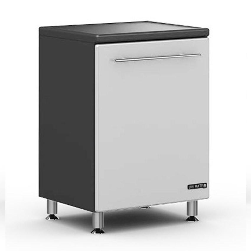 Ulti-MATE Storage 1-Door Base Cabinet in Starfire Pearl