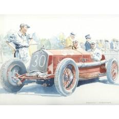 Alfa Romeo P2 (2) Art Print by Giovanni Casander