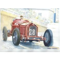 Alfa Romeo 8c 2300 Art Print by Giovanni Casander