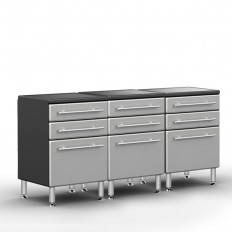 Ulti-MATE Garage PRO 3-Drawer Base Cabinet Package
