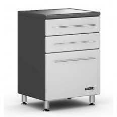 Ulti-MATE Storage 3-Drawer Base Cabinet in Starfire Pearl
