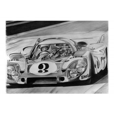 917 Martini Art Print by St̩éphane Dufour
