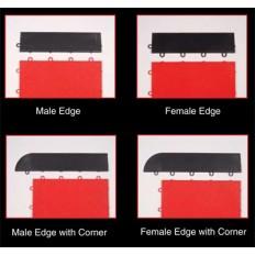 Park Smart Style Tile Interlocking Floor Tiles - Black Edging